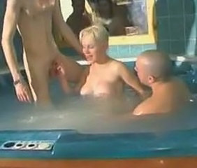 Amateur Big Tits European French MILF Pool Threesome