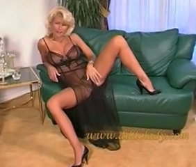 Blonde Lingerie Mature Mom