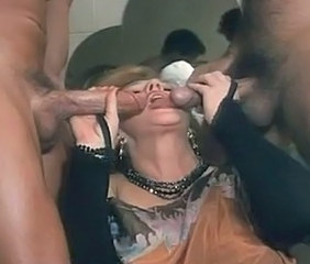 Big cock Blowjob Clothed Mature Threesome