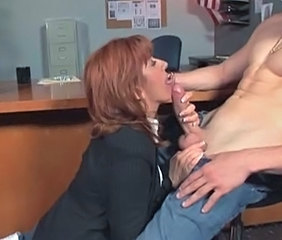 Big cock Blowjob Latina Mature MILF Office