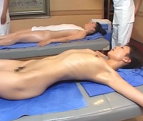 Asian Japanese Massage MILF Oiled Skinny