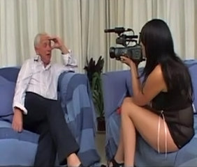 Foreign slut gets fucked by an old British bloke