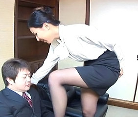 Asian Japanese MILF Office Secretary Stockings