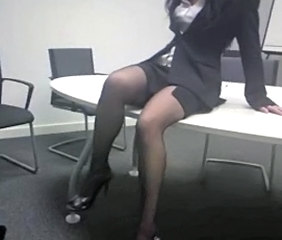 Legs MILF Office Secretary Stockings