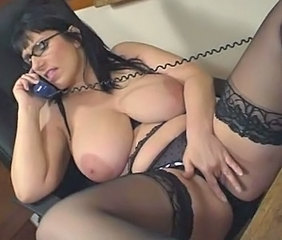 Big Tits British Chubby European Glasses Lingerie Masturbating MILF Natural Stockings