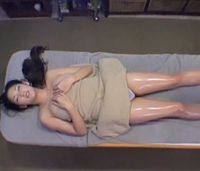 Asian Babe  Japanese Massage Oiled Voyeur