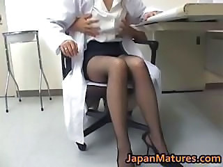 Amazing Asian Japanese Legs Mature Nurse Stockings