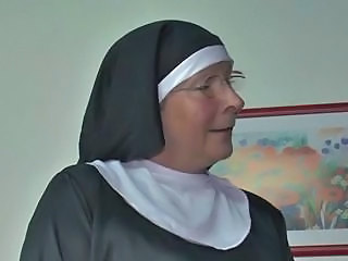 European German Glasses Mature Nun Uniform
