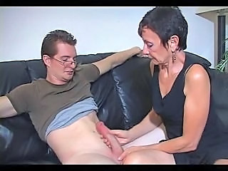 Big cock Handjob Mature Mom Old and Young