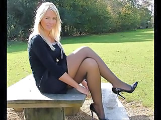 Cute Legs Mature Outdoor Stockings