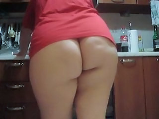Amateur Ass Homemade Kitchen Wife