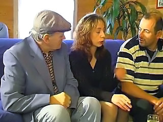Daddy Mature Smoking Threesome