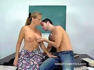 Glasses MILF Old and Young School Teacher