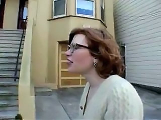 Glasses Hairy Outdoor Public Redhead Teen