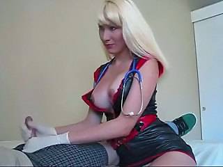 Handjob Latex MILF Nurse Uniform