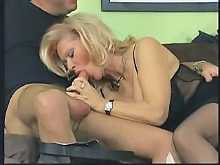 Blowjob European German Mature Stockings