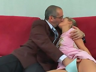 Daddy Kissing Old and Young Panty Teacher Teen