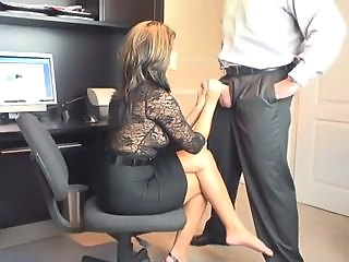 Handjob MILF Office Secretary