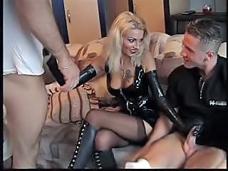 Anal Cute Handjob Latex MILF Stockings Tattoo Threesome