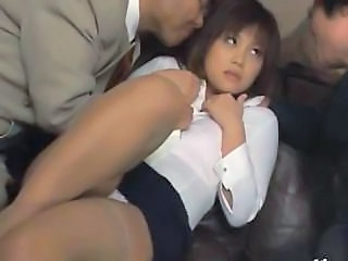 Asian MILF Panty Stockings Upskirt