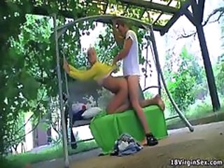 Doggystyle Outdoor Teen Virgin