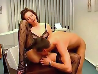 Doctor Licking MILF Stockings