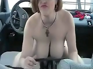 Amateur Big Tits Car MILF Natural