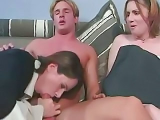 Blowjob MILF Mom Old and Young Threesome