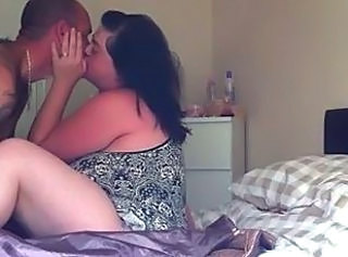 Amateur BBW Homemade Kissing Wife