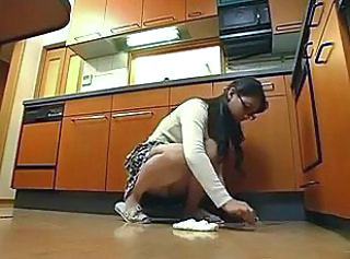 Asian Daughter Kitchen Mom Upskirt