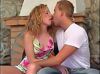 European Kissing Teen