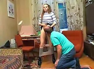 Amateur Daddy Daughter Femdom Licking Old and Young Young