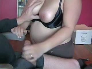Chubby Handjob Mature Wife