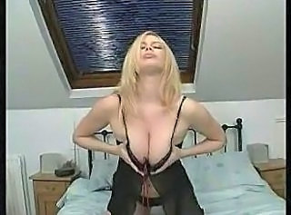 Amazing Blonde Lingerie MILF Natural Solo