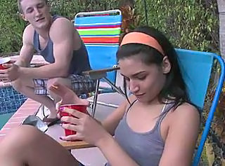 Drunk Outdoor Party Pool Teen