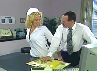 Amazing Blonde MILF Nurse Uniform Vintage
