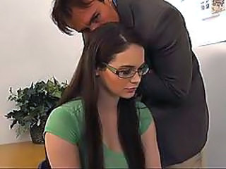 Glasses Long hair MILF Office Secretary