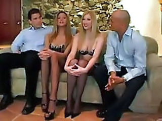 Amazing Groupsex MILF Stockings Swingers