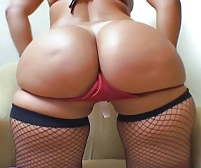 Ass Fishnet Latina Panty Stripper