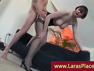 Doggystyle Mature SaggyTits Stockings