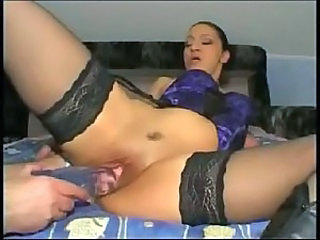 Amateur Daughter Dildo Old and Young Shaved Stockings Toy Young