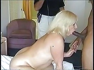 Blowjob Interracial Mature Threesome Wife