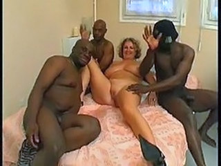 Mature French with african guys