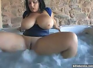 BBW Big Tits MILF Natural Pool