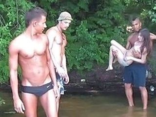 Gangbang Outdoor Russian Teen