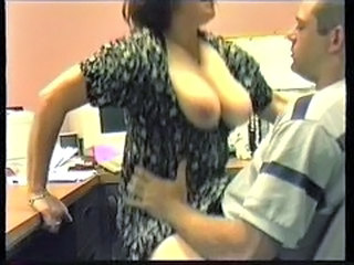 Big Tits  MILF Office Riding