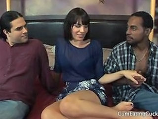 Interracial MILF Threesome Wife