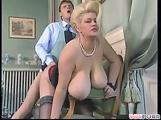 Amazing Big Tits Blonde Doggystyle Hardcore MILF Natural Old and Young Pornstar Vintage