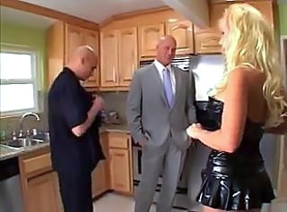 Kitchen Latex Mature Threesome