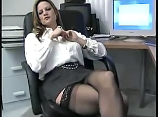 Mature Office Secretary Stockings